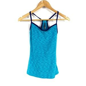 Lucy Blue Heathered Work Out Tank Top 3735
